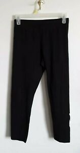 NIKE juniors size S solid black with white NIKE leggings