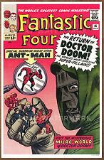 Fantastic Four #16  poster art print '92  Jack Kirby   Doctor Doom  Ant Man