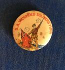 South Australian Wounded Soldiers Fund - WWI Era Pinback - Rare!!