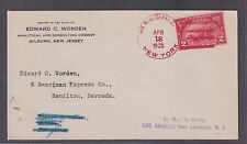 615 2c On Airship Los Angeles Flight Cover to Bermuda VF