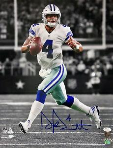 Dak Prescott Dallas Cowboys Signed Autographed Spotlight 16x20 Photo JSA