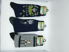 New Monopoly Mens Novelty Crew Socks!! size 6-12  Set of 3! Comfortable and soft