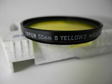 TIFFEN 55mm YELLOW 2 (8) FILTER WITH BOX UNUSED PERFECT with INSTRUCTION SHEET