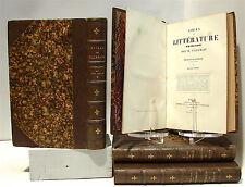 VILLEMAIN : Tableau de la littérature au XVIII° siècle - 1863, 4 volumes reliés