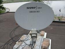 SHAW DIRECT 75cm ELLIPTICAL SATELLITE DISH w Triple XKU LNB