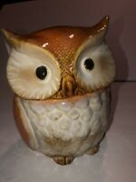 Hoot Owl Canister Container Cookie Candy Jar Storage