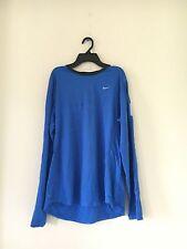 Nike Men Blue Black Dri-Fit Long Sleeve Athletic Performance Size L