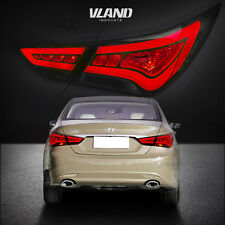 LED Tail Lights For Hyundai Sonata 2011-2014 Smoked Lens Replacement Tail Lamp