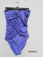 J. Crew women's size 4 Purple Swimsuit Strapless Wrap Padded Criss Croos Front