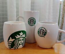 Starbucks Coffee Mug Cup Lot of 3 Mermaid Logo Tall Skinny Barrel