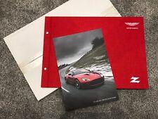 GENUINE 2012 Aston Martin V12 Zagato Brochure & RARE Specification Form 705537