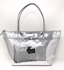 Kate Spade Camellia Street Sophie Large Metallic Silver Tote Bag WKRU2472 $198