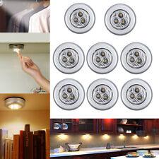 Set 10x 3Leds LED Touch Lampe Unterbauleuchte Batteriebetrieb für Küchen Schrank