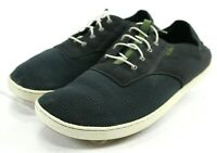Olukai Nohea Moku $100 Men's Casual Shoes Size 11.5 Black Textile
