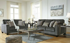 NEW Transitional Living Room Furniture - 2 piece Gray Fabric Sofa Couch Set IG0D