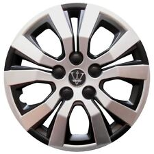 "Wheel Trim cover 15"" Inch Set of 4 Matt black/Silver effect Universal Fit Hubs"