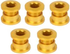 5-Count Set of Origin8 ALLOY Single-Speed BMX Track Fixie Chainring Bolts GOLD
