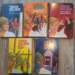Lot Of 5 Trixie Belden Mystery Books (HC) Vintage