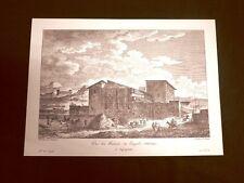 Veduta delle rovine del Tempio di Esculapio Agrigento Sicilia Saint-Non