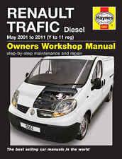 Haynes Manual Renault TRAFIC Diesel 2001 to 2011 - 5551