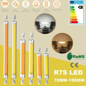 2Pack R7s LED Leuchtmittel COB 78mm 118mm189mm Glasröhre Ersetzen Halogenlampe