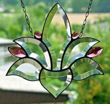 Bleiverglasung, Bleiglas Suncatcher Fensterbild Facetten- Lotus in Tiffany