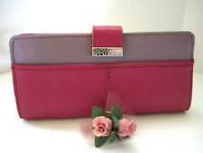 "Brighton ""BARBADOS"" Large Pink Leather Pocket Wallet (MSR$150) NWT/Pouch"