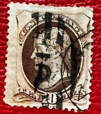 1873 US Stamp SC #161 10c Jefferson Used CV:$25