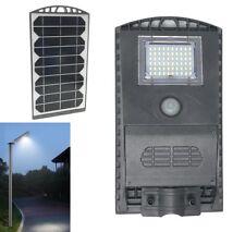 LAMPIONE STRADALE FARO 60 LED PANNELLO ENERGIA SOLARE FOTOVOLTAICO ESTERNO IP65