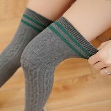 College Wind Thigh High Socks Stockings Over The Knee Girls Womens DG