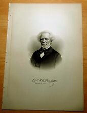 Antique Print 1886 PROF. WILLIAM HOLMES CHAMBERS BARTLETT New York STEEL ENGRAV