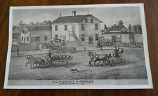 Antique Ravenna Ohio Print C. D, Hudson's Warehouse Main Street Ravenna Ohio