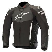 Alpinestars SP X Leather Sports CE Approved Motorcycle Motorbike Jacket Blk Wht