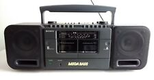 SONY CFS-DW38L BOOMBOX GHETTO BLASTER WITH LINE IN MEGA BASS 4 BAND RADIO TAPE