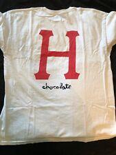 Huf X Chocolate Skateboards XL White T Shirt Rare Vintage