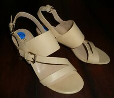 10e87234d98 Lauren Ralph Lauren Florin Beige Leather Sandals Block Heel Open Toe Size  7.5 B