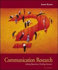 Communication Research: Asking Questions, Finding Answers, Joann Keyton, Very Go