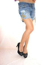 Womens Vtg LEVIS 544 Distress Hot Pants Shorts Sexy Cut Custom High Waist AG30