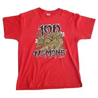 Fruit Of The Loom 100 Demons Heavy Metal Band Red Tshirt Size L Large