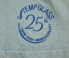 TEMP GLASS lrg polo shirt button-down OHIO Anniversary 1976-2001 Perrysburg