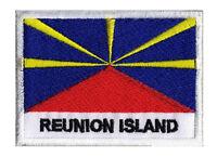 Écusson patche drapeau patch ile de LA REUNION Réunion  70 x 45 mm