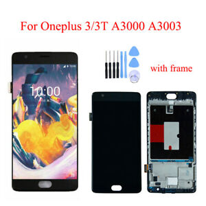 Original For Oneplus 3/3T A3000 A3003 LCD Display Touch Screen Digitizer Frame