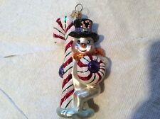"""Radko """"Peppermint Chillin Snowman� Ornament 5"""" tall"""