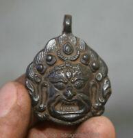 mahakala bronze 4.5cm vieux bonze amulette du bouddhisme tibétain