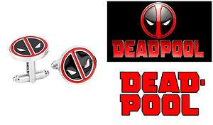 Deadpool Stainless Steel Dress Shirt 1 Pair Cufflinks USA Seller