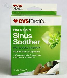 CVS Health Hot & Cold Therapy Sinus Soother Eye Pillow Peppermint & Eucalyptus