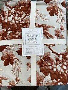 """NWT Williams Sonoma Grape Toile 108"""" Table Runner Holiday Thanksgiving NEW"""