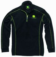 John Deere - Black Fleece Pullover with Zip
