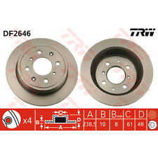 Bremsscheibe, 1 Stück TRW DF2646