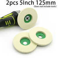 Polishing Buffing Grinding Wheel Pad Disc Replacement Metal Cleaner 5 Inch 2pcs